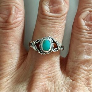 Jewelry - Sterling Silver Stabilized Turquoise Ring