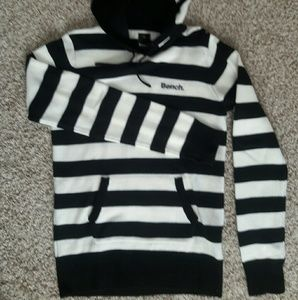 Bench Tops - Bench Black and White Women's Hoodie size L