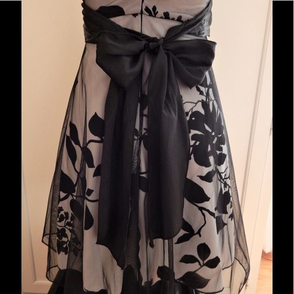 Speechless Dresses - Speechless Black and Gray Floral Halter Dress Sz 5
