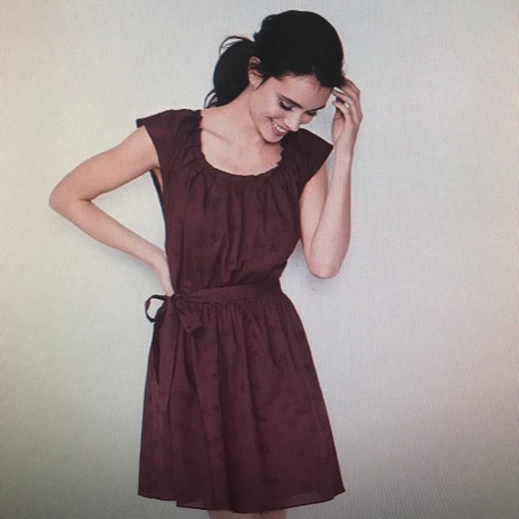 f231f3c0aa4 Burgundy pleated fit & flare dress. never worn
