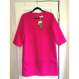 *NWT* Kate Spade Demi Shift Dress with Scallop Hem