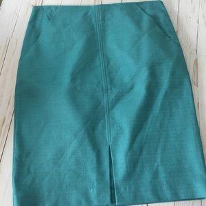 Loft aqua pencil skirt