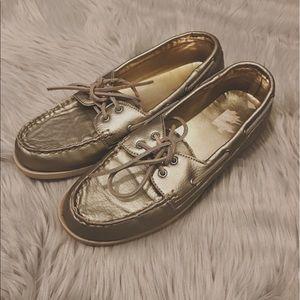 Merona Gold Metallic Boat Shoes