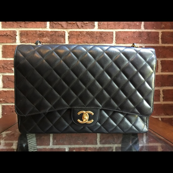 361f662fdd4 CHANEL Bags | Authentic Maxi Flap Gold Hardware Timeless | Poshmark