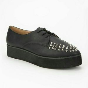 Deena & Ozzy Shoes - Deena & Ozzy Black Lace up Creepers