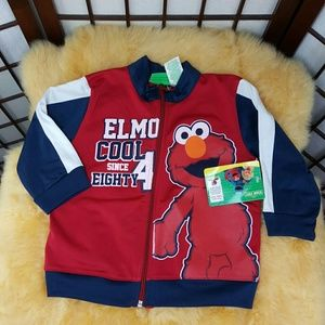 Sesame Street Other - Elmo Cool Sesame Street Zip Up Jacket Sz 2T