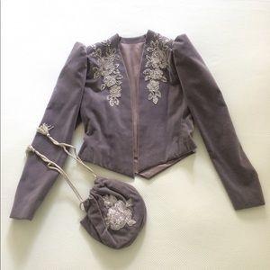 Alexander McQueen Jackets & Blazers - 🎖🎉Hosts Pick🎉🎖Grey vintage structured jacket
