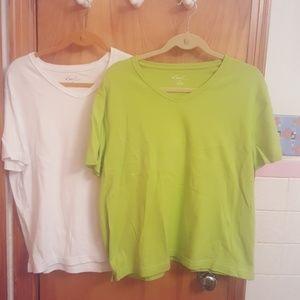 Kim Rogers Tops - Never worn bundle of e 2 shirts size XL