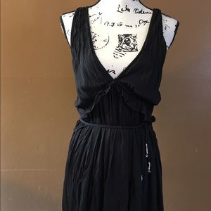 FREE PEOPLE SIZE XS BLACK SUMMER BELTED DRESS