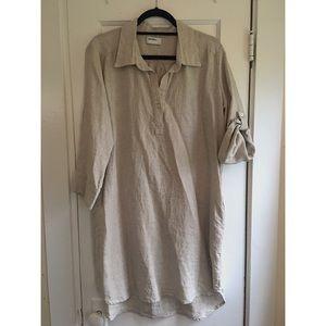 *NWOT* Allen Allen Linen Shirt Dress with pockets