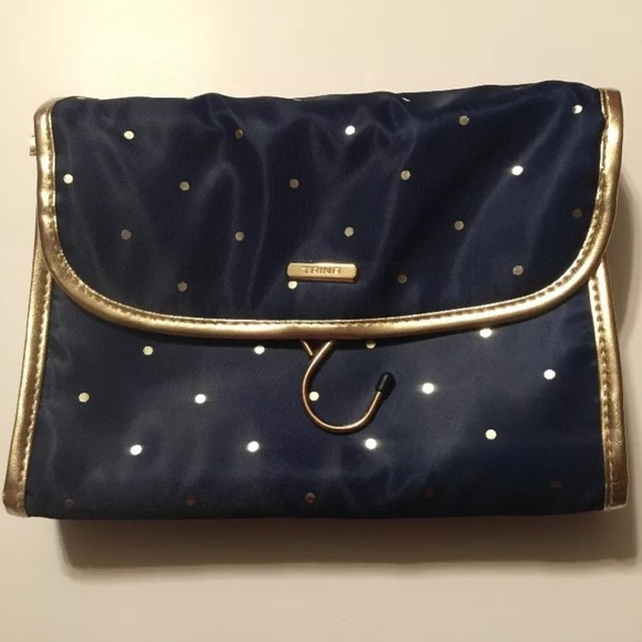 Trina Handbags Chic Navy Gold Hanging Travel