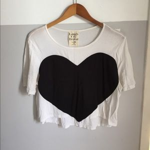 Laugh Cry Repeat Tops - Heart Crop Top