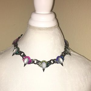 Bauble Bar Jewelry - Bauble Bar Crystal Spike Curb Collar necklace