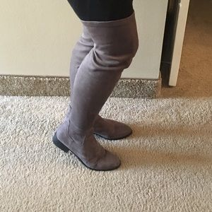 Forever 21 Shoes - Forever 21 Faux Suede Thigh Boots