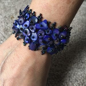 Jewelry - BLUE BEADED BRACELET FROM MEXICO