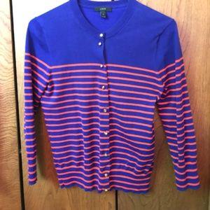 J. Crew Sweaters - Striped nautical J crew cardigan