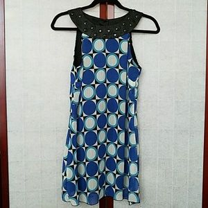 Vintage Rampage blue mod dress/costume Size 5J