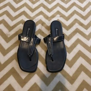 Etienne Aigner Shoes - Etienne Black Sandals (Women's 7.5)