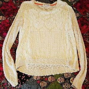 Jolt Sweaters - Lace front sweater