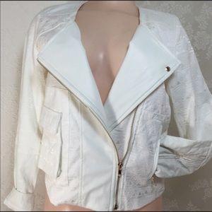 Endless Rose Jackets & Blazers - White Moro jacket w/gold zippers B006