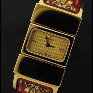 Hermes Accessories - Auth hermes loquat red horse enamel watch