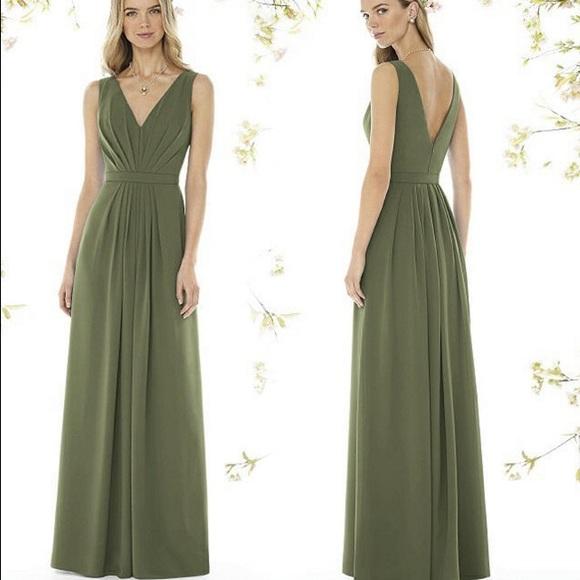 dessy Dresses | Floorlength Dress In Moss Green 8157 | Poshmark