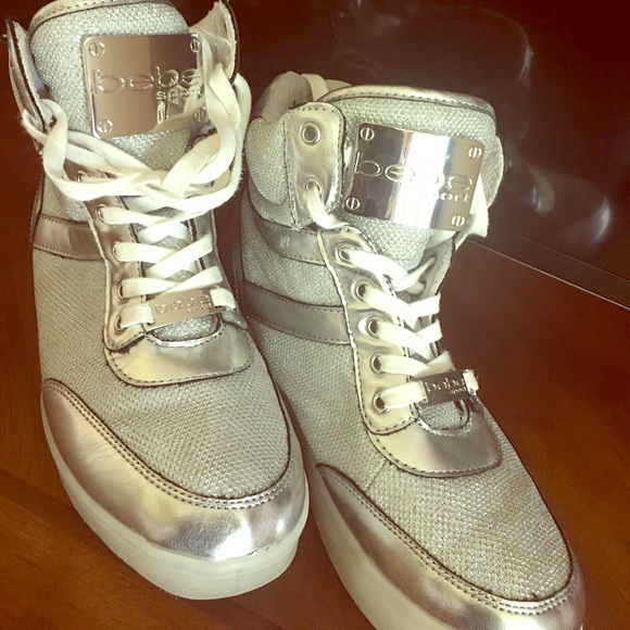 bebe Shoes | Silver Bebe Sport Light Up