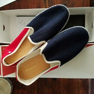 Rivieras Shoes - Red & Blue Rivieras Classic Slip On Shoes size 9.5