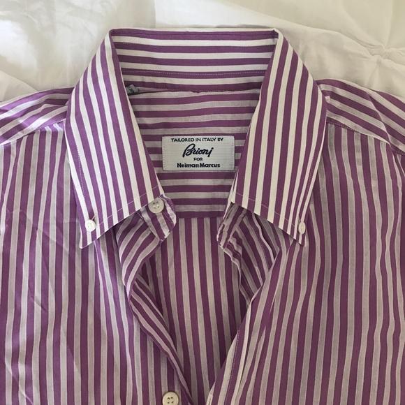 Brioni Men/'s Purple 100/% Cotton Striped Pajamas