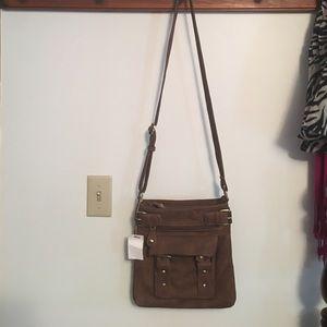 Handbags - NWT Emperia Brown Crossbody Bag