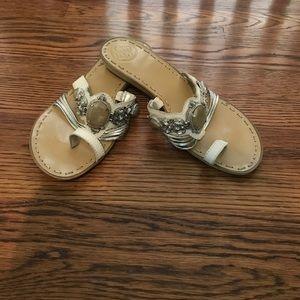 BCBGeneration jeweled leather sandals