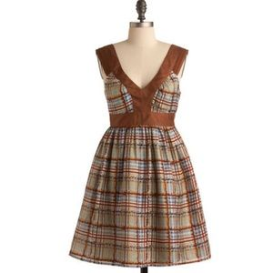 Burlapp plaid dress