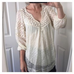 Rebecca Taylor Tops - Rebecca Taylor Crochet Lace Top