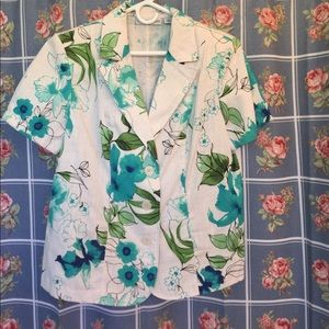 Sag Harbor Jackets & Blazers - Sag Harbor short sleeve jacket floral nice size 16