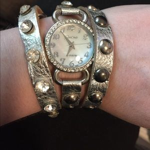 geneva Accessories - Geneva Wrap watch rhinestones and studs