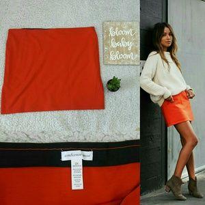 Ambiance Apparel Dresses & Skirts - Plus size Burnt orange soft skirt