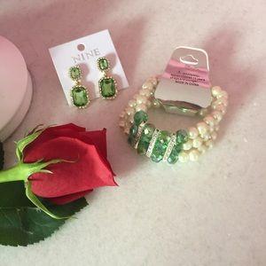 Jewelry - 🎉BOGO 1/2🎉 Fabulous Citrus Green Bracelet Set