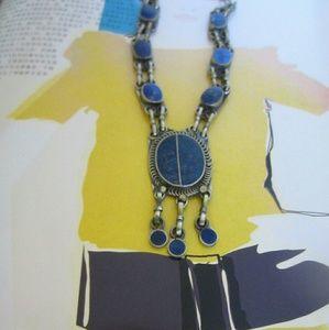 folk  Jewelry - Lapis Lazuli Tribal Necklace