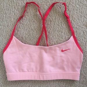 Nike Tops - Nike pink sports bra