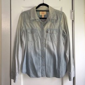 Levi's Tailored Western Chambray Denim Shirt