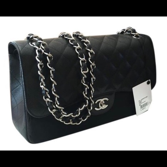e14c5352384d3c CHANEL Bags | 255 Classic Caviar Jumbo Double Flag Bag | Poshmark