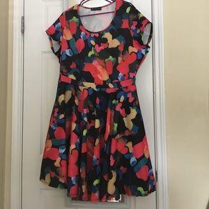 Fashion to Figure Dresses & Skirts - Fashion to Figure - water color dress - size 2