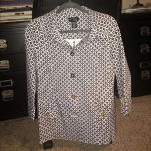 Attyre Jackets & Blazers - Attyre navy and white jacket
