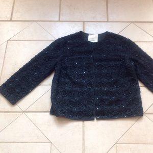 Riviera Jackets & Blazers - Vintage RIVIERA Black Beaded Jacket  Sz M/L