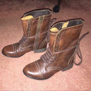 Steve Madden combat boots!