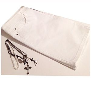 Christopher & Banks Pants - Christopher & Banks, Modern Fit White Denim Shorts
