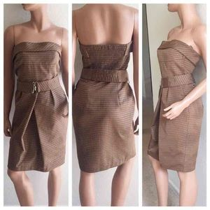 ZARA Tulip Tube Top Metallic Dots Dress