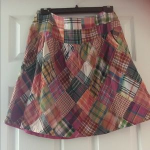 CAbi madras skirt-size 6