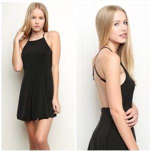 Brandy Melville Dresses & Skirts - Brandy Melville Black Open Back Skater Dress