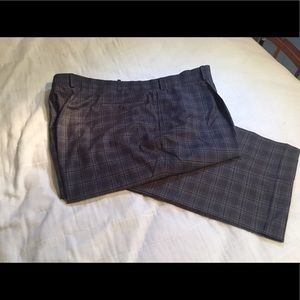Other - Charcoal plaid men's trousers - new WOT